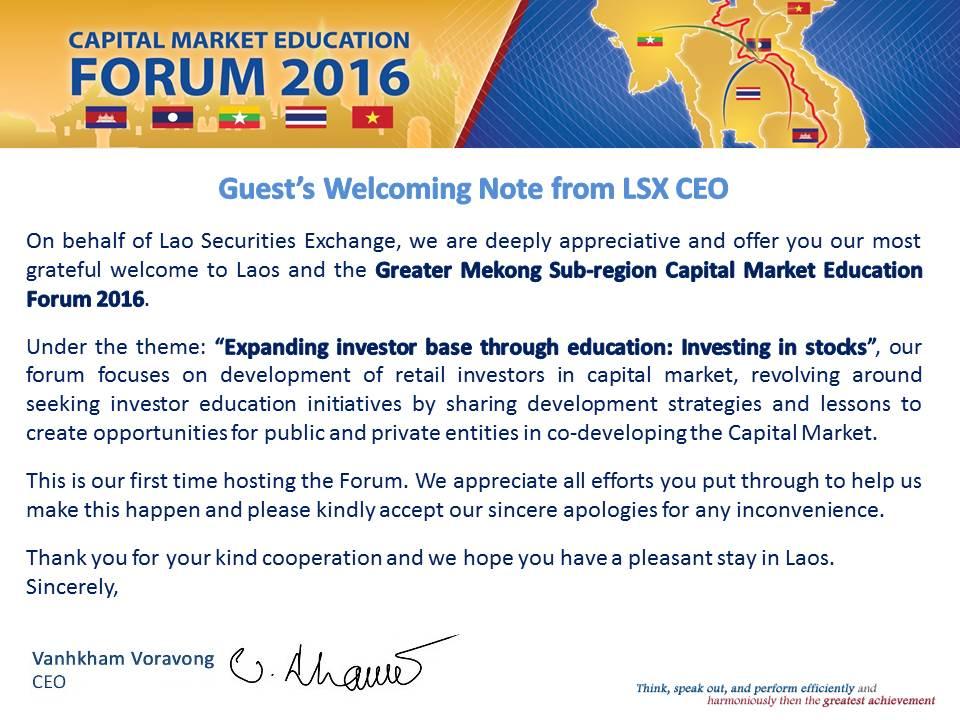 LSX - Lao Securities eXchange